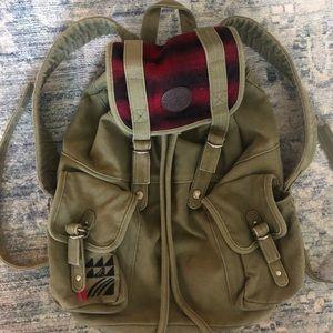 Roxy boho Army Green Backpack